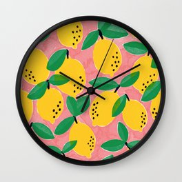 Life's Lemons by Veronique de Jong Wall Clock