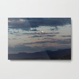 Rose Kissed Clouds Metal Print