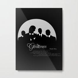 The Gentlemen Metal Print