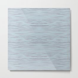 Meteor Stripes - Light Blue Metal Print