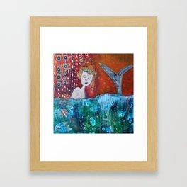 Mermaid's Day Off Framed Art Print
