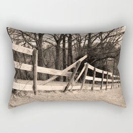 Broken Fence Rectangular Pillow
