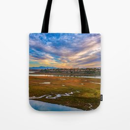 Big Sky Over the Back Bay Tote Bag