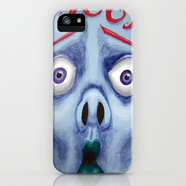 Blue Face iPhone Case