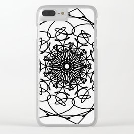 love mandala number 4 - big flower Clear iPhone Case