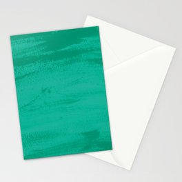 Mood Strokes Turquoise Stationery Cards