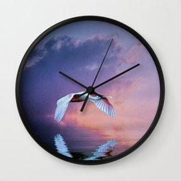 Pink sunset Wall Clock