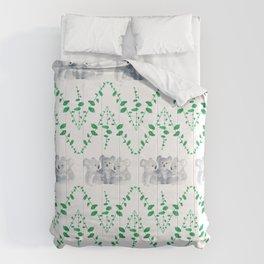 Koalas in Eucalyptus Comforters