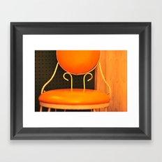 Lone Chair Framed Art Print