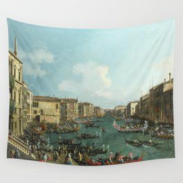 A Regatta on the Grand Canal by Canaletto Wall Tapestry