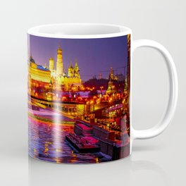 Moscow Kremlin And The Moscow River In The Winter Night Coffee Mug