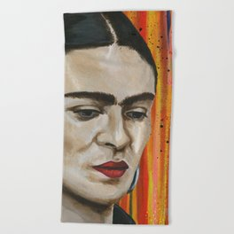 Frida in Colorland Beach Towel