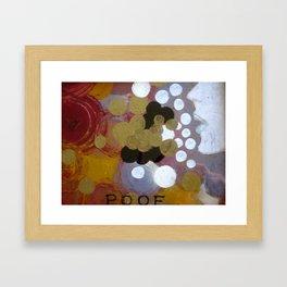 POOF Framed Art Print