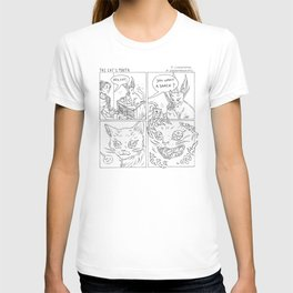 The Cat's Mouth (B&W) T-shirt