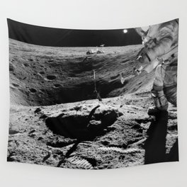 Apollo 16 - Moon Astronaut Crater Wall Tapestry