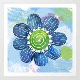 Blue Whimsy Art Print