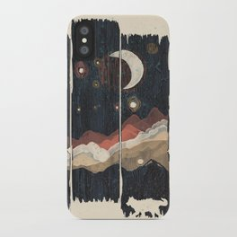 A Starry Night in the Mountains... iPhone Case