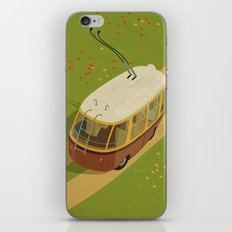 Trolley Rides The Field iPhone & iPod Skin