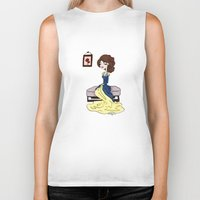 beauty and the beast Biker Tanks featuring Beauty and the Beast by Little Moon Dance