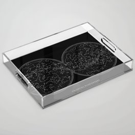 Minimalist celestial sky map Acrylic Tray