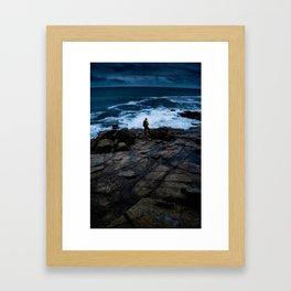 Coastline Acadia Thoughts Framed Art Print