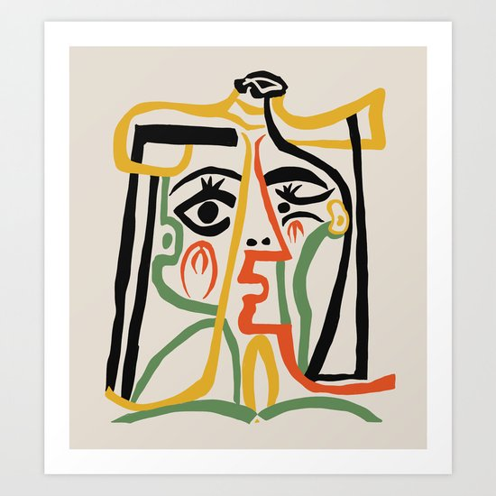 Picasso - Woman's head #1 by shamila