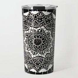 B&W Mandala Travel Mug