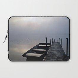 Misty Adirondack Dawn: A Duck's Paradise Laptop Sleeve
