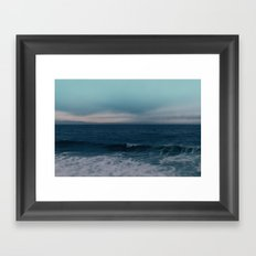Blue California Ocean Framed Art Print