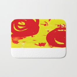 Yellow and Red Bath Mat