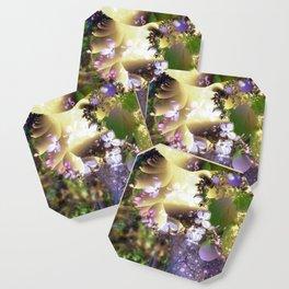 Floral fractals mixed reality Coaster