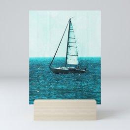 Sailing in Saugatuck - Lake Michigan Mini Art Print