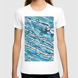 Blue Marble with Black T-shirt