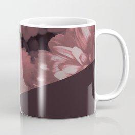 Pink mums geometrical collage Coffee Mug