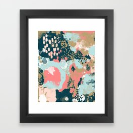 Eisley - Modern fresh abstract painting in bright colors perfect for trendy girls decor college Framed Art Print