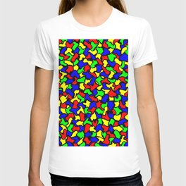 Red Green and Blue Wobble Tiles T-shirt