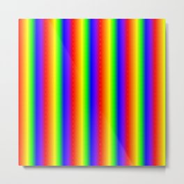 Rainbow Gradient Metal Print