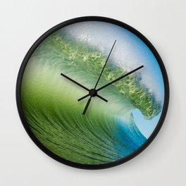BlueGreen Wave Wall Clock