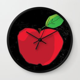 Fall in the apples Wall Clock