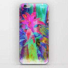 Exotic Pink, Abstract Flower, Floral Arrangement, Modern Art, Wall Art, Flowers iPhone Skin