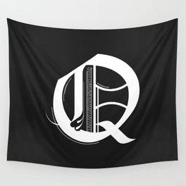 Letter Q Wall Tapestry