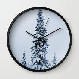 First Snow Fog Wall Clock