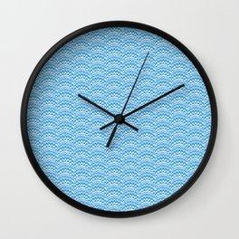 Marbling Comb - Blue Sky Wall Clock