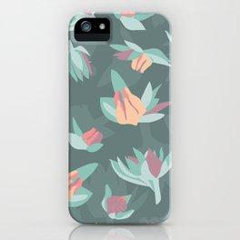 Succulent floral element & patterns IV iPhone Case