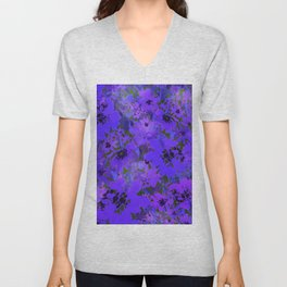Heavenly Blue Garden Unisex V-Neck