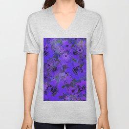 Heavenly Blue Garden Unisex V-Neck