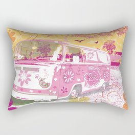 girl camper Rectangular Pillow