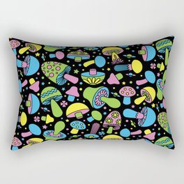 Shroomin Blacklight Rectangular Pillow
