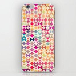 Rainbow Quilt 01 iPhone Skin