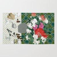 perfume Area & Throw Rugs featuring Making perfume by Yuliya